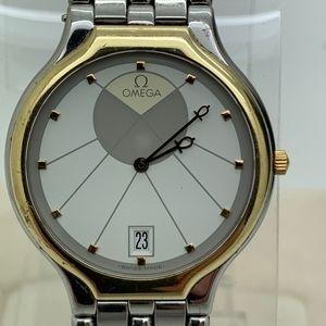 Omega 18 Kt Quatrz Date Man Watch